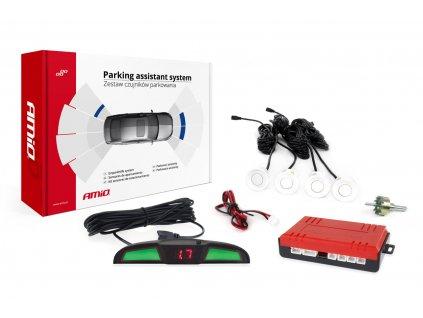 Asistenty parkovania LED COB 4-senzorové biele