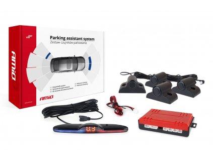 Asistenty parkovania MAX LED 4-senzorové čierne 19mm TRUCK