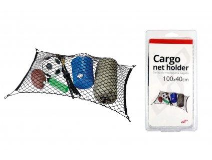 Sieťka na uchytenie batožiny s úchytmi 100x40