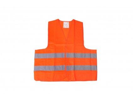 Výstražná vesta oranžová z certifikátom