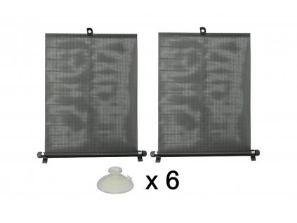 Rolety na bočné sklá čierne 2ks x 45 cm šírka