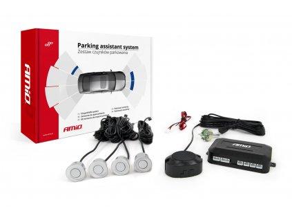 Asistenty parkovania so zvukovým signalizátorom/bzučiak 4-senzorové ,strieborné
