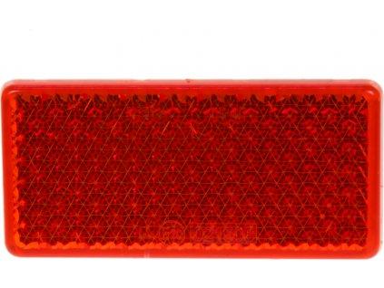 Zadné (červený) odrazový element - obdĺžnik 95 x 45mm nalepovacie