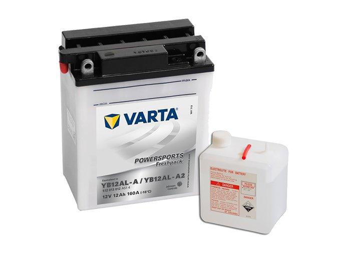 Motobaterie Varta Powersports Freshpack 512 013 012