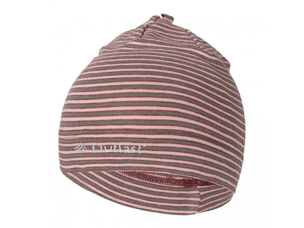 Čepice smyk natahovací PRUH Outlast ® - pruh pudrkhaki (Velikost 1 | 36-38 cm)