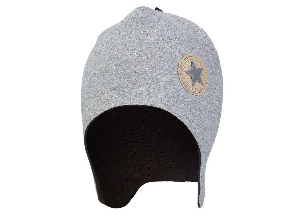 Čepice laponka podšitá Outlast ® - šedý melír/černá (Velikost 4 | 45-48 cm)