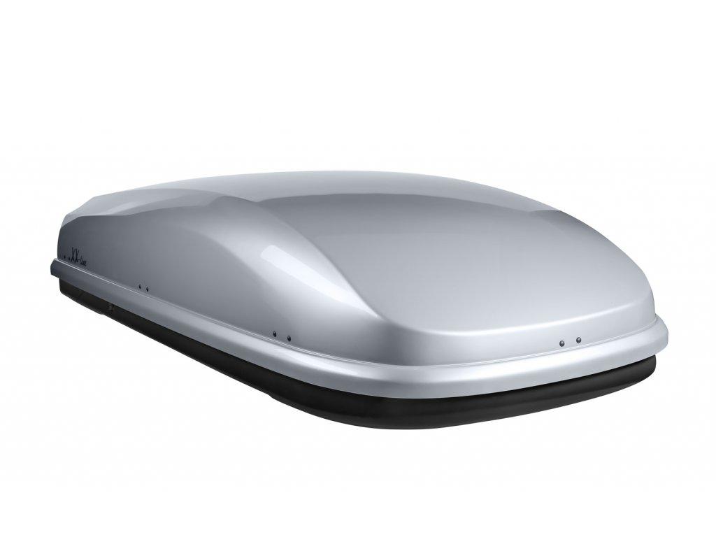 Autobox NEUMANN, XX-line - stříbrný lesklý, oboustranně otevíratelný, háček