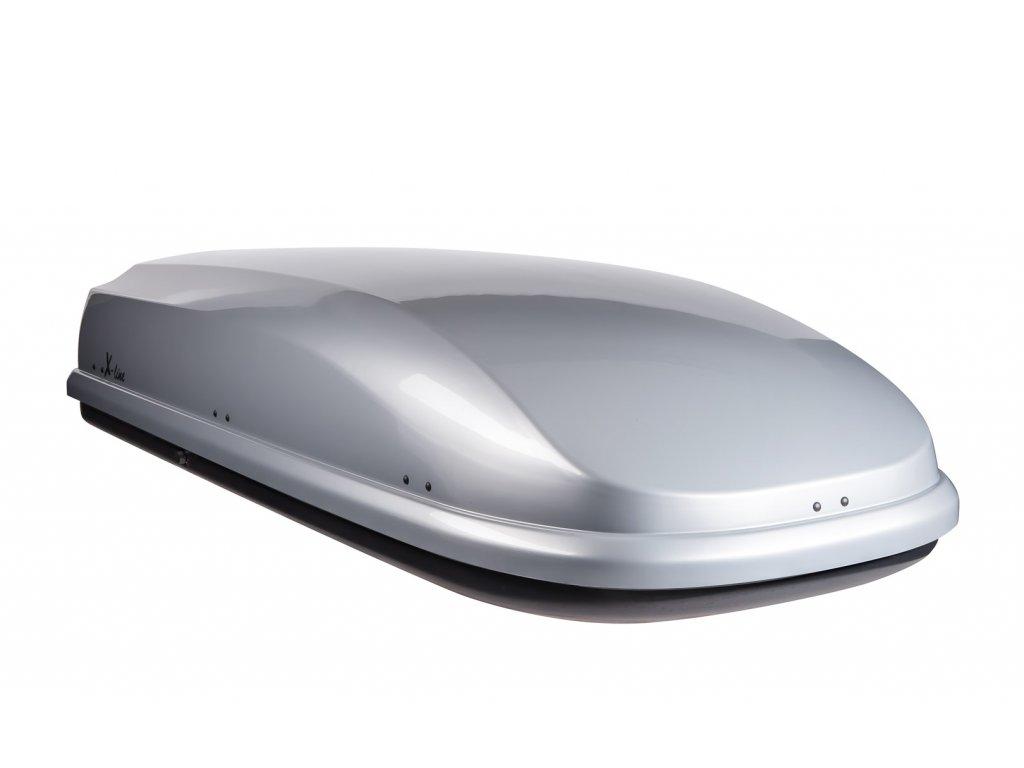 Autobox NEUMANN, X-line 710, stříbrná lesklá, oboustranné otevírání, rychloupínací systém.