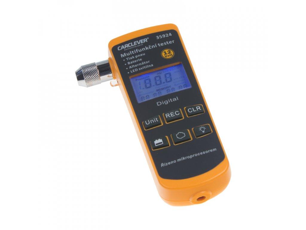 Multifunkční tester 4v1 TPMS/baterie/nabíjení/lampička