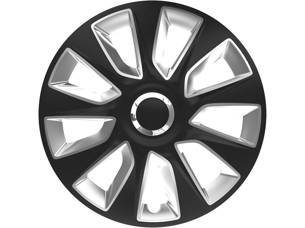 "Kryty kol - poklice Stratos RC 14"" Black&Silver  Kryty kol - poklice"
