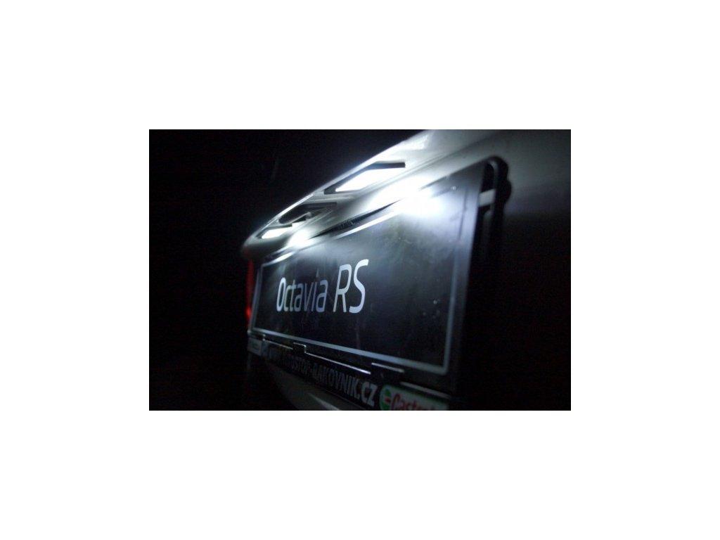 Škoda Octavia III - LED osvětlení SPZ
