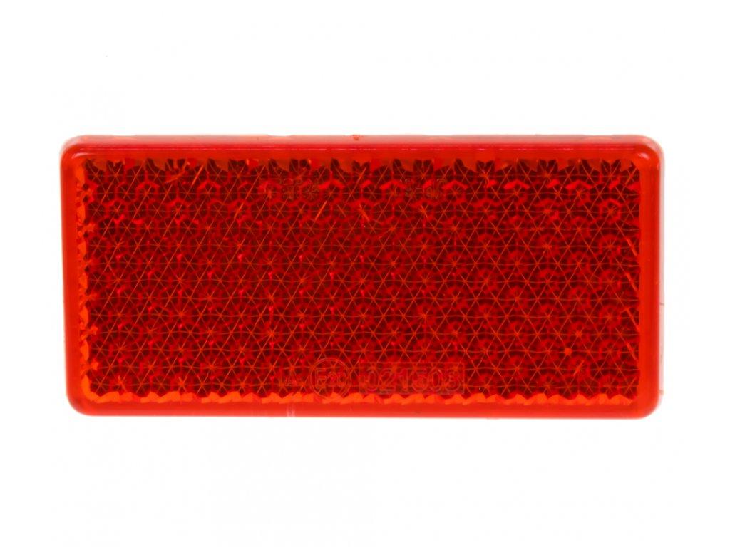 Zadní (červený) odrazový element - obdélník 95 x 45mm nalepovací