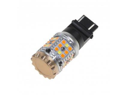LED T20 (3157) bílá/oranžová, CAN-BUS, 12V, 40LED/3030SMD