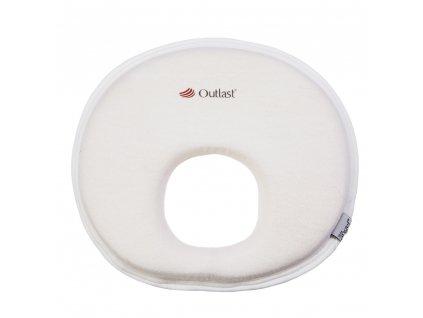 Polštářek - podhlavník pro novorozence Outlast® - bílá (Velikost UNI)
