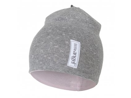 Čepice podšitá Outlast® - šedý melír lesk/růžová baby (Velikost 1 | 36-38 cm)