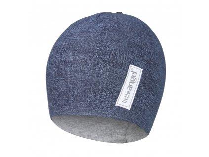 Čepice podšitá JEANS Outlast® - jeans/šedý melír (Velikost 1 | 36-38 cm)