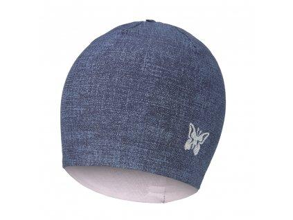 Čepice podšitá JEANS Outlast® - jeans/růžová baby (Velikost 1 | 36-38 cm)