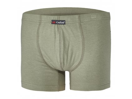 Boxerky pánské tenké plochý šev Outlast® - khaki (Velikost S)