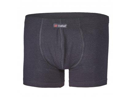 Boxerky pánské tenké plochý šev Outlast® - černá (Velikost S)