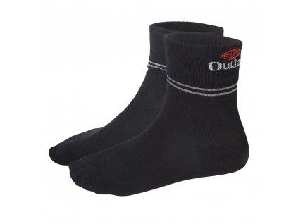 Ponožky Outlast® - černá/pruh šedý (Velikost 35-38)