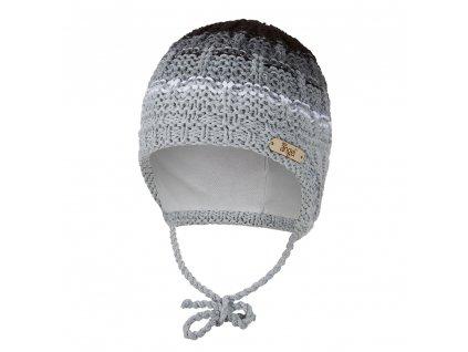 Čepice pletená zavazovací duha Outlast ® - šedá (Velikost 1   36-38 cm)