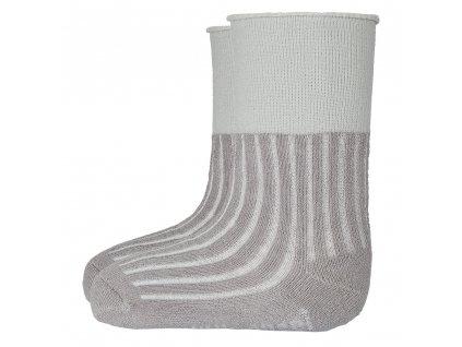 Ponožky froté protiskluz Outlast® - tm.šedá (Velikost 15-19 | 10-13 cm)