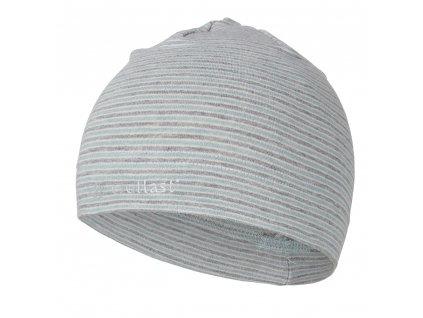 Čepice smyk natahovací PRUH Outlast ® - pruh lišejník šedý melír (Velikost 1 | 36-38 cm)