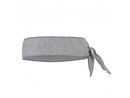 Čelenka tenká zavazovací Outlast ® - šedý melír (Velikost 5 | 49-53 cm)
