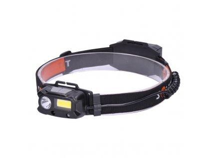 Solight LED čelová nabíjecí svítilna, 3W + COB,150 + 60lm, Li-ion