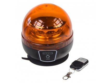 AKU LED maják, 12x3W oranžový, dálkové ovládání, magnet, ECE R65