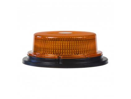 LED maják, 12-24V, 18x1W oranžový, magnet, ECE R10