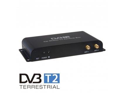 DVB-T2/HEVC/H.265 digitální tuner s USB + 4x anténa