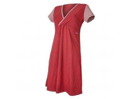 Noční košile tenká Outlast® - pruh bordový (Velikost M)