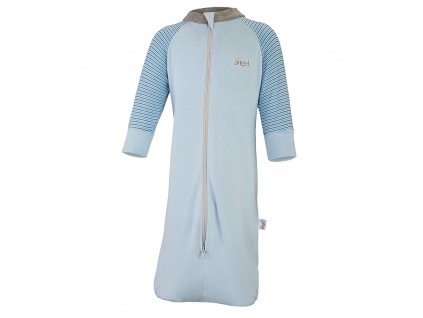 Overal spací pytel Outlast® - sv.modrá/pruh sv.modrý úzký (Velikost 56)