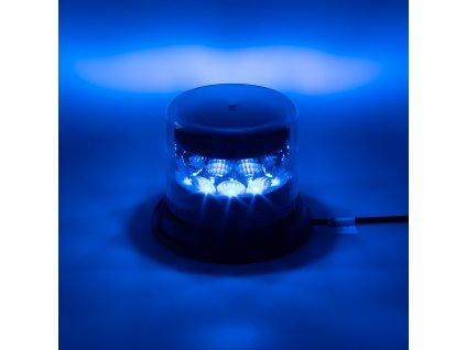 PROFI LED maják 12-24V 24x3W modrý čirý 133x110mm, ECE R65