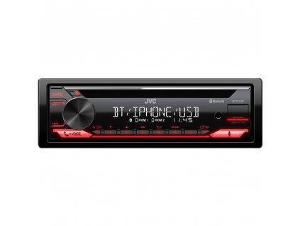 JVC autorádio s CD/MP3/USB/AUX/Bluetooth připojení/červené podsvícení/odním.panel