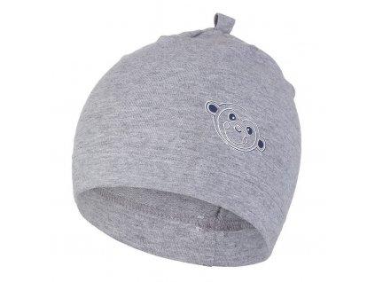 Čepice smyk obrázek Outlast ® - šedý melír/opička (Velikost 1 | 36-38 cm)