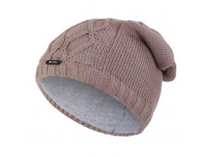 Čepice pletená spadlá vlnky Outlast ® - kašmír (Velikost 5   49-53 cm)