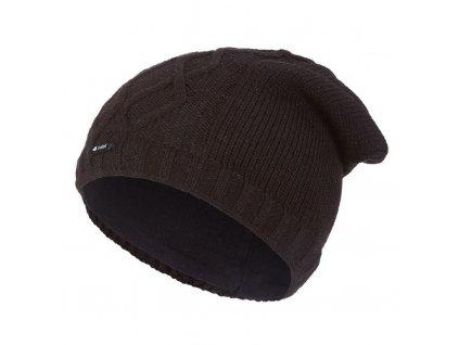 Čepice pletená spadlá vlnky Outlast ® - černá (Velikost 5 | 49-53 cm)