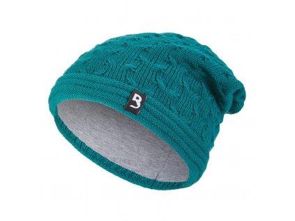 Čepice pletená spadlá Outlast ® - zelená (Velikost 5 | 49-53 cm)