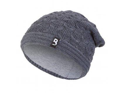Čepice pletená spadlá Outlast ® - tm.šedá (Velikost 5 | 49-53 cm)