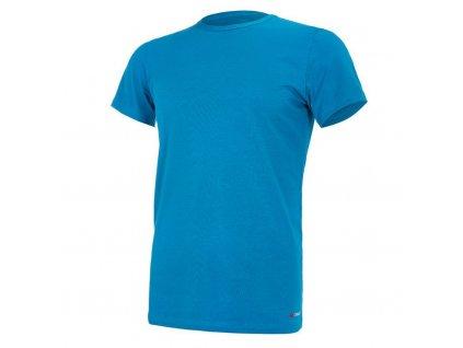 Tričko pánské KR tenké výstřih U Outlast® - tm.tyrkys (Velikost M)