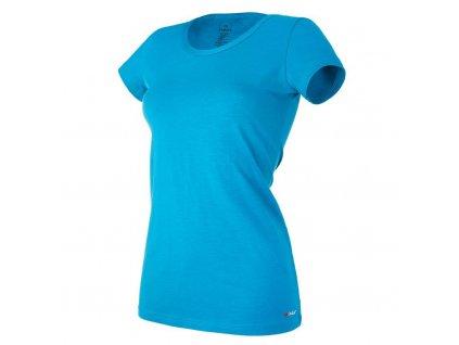 Tričko dámské KR tenké výstřih U Outlast® - tm.tyrkys (Velikost S)
