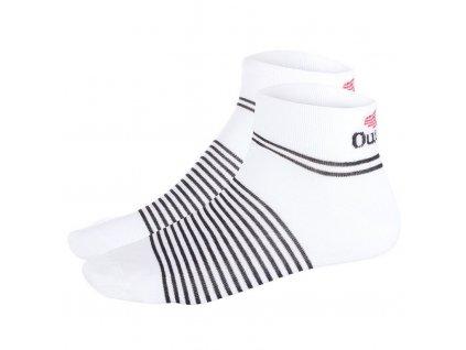 Ponožky nízké Outlast® - bílá/pruh černý (Velikost 35-38)