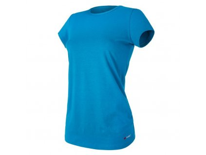 Tričko těhotenské řasené KR tenké Outlast® - tm.tyrkys (Velikost M)