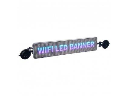 Wifi LED banner – plnobarevný displej s vysokým jasem 49,5 cm x 11 cm