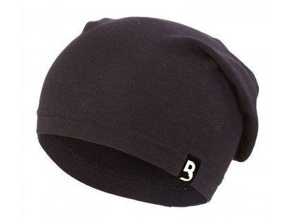Čepice smyk spadlá BARIDI Outlast® - černá (Velikost 5 | 49-53 cm)