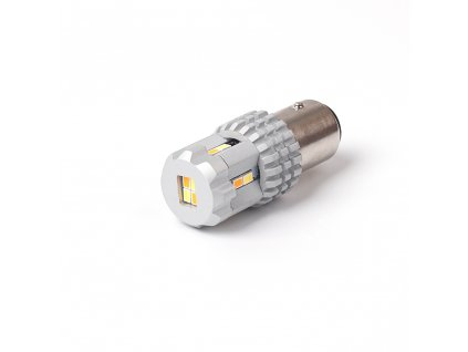 LED BAY15D bílá/oranžová, 12V, 12LED SMD