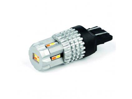 LED T20 (7443) bílá/oranžová, 12V, 12LED SMD