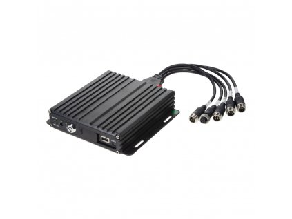 Černá skříňka pro záznam obrazu až 1080P ze 4 kamer, 1x slot SD, GPS